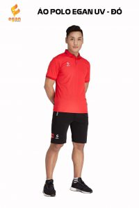 Áo đồng phục Polo Egan UV1 cao cấp màu đỏ năm 2020