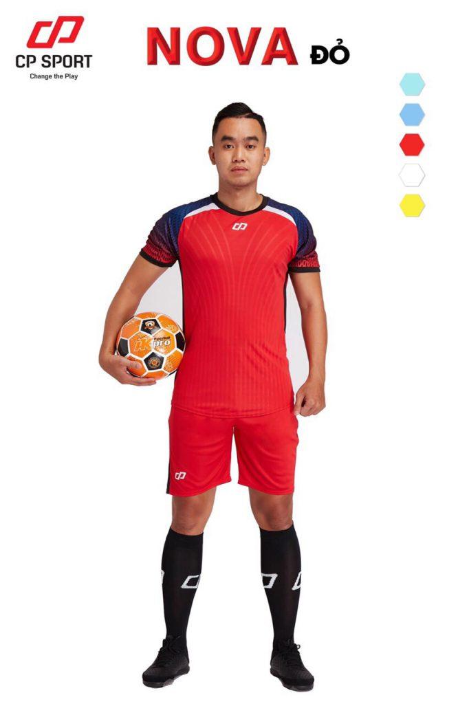 Áo bóng đá CP Nova màu đỏ năm 2020
