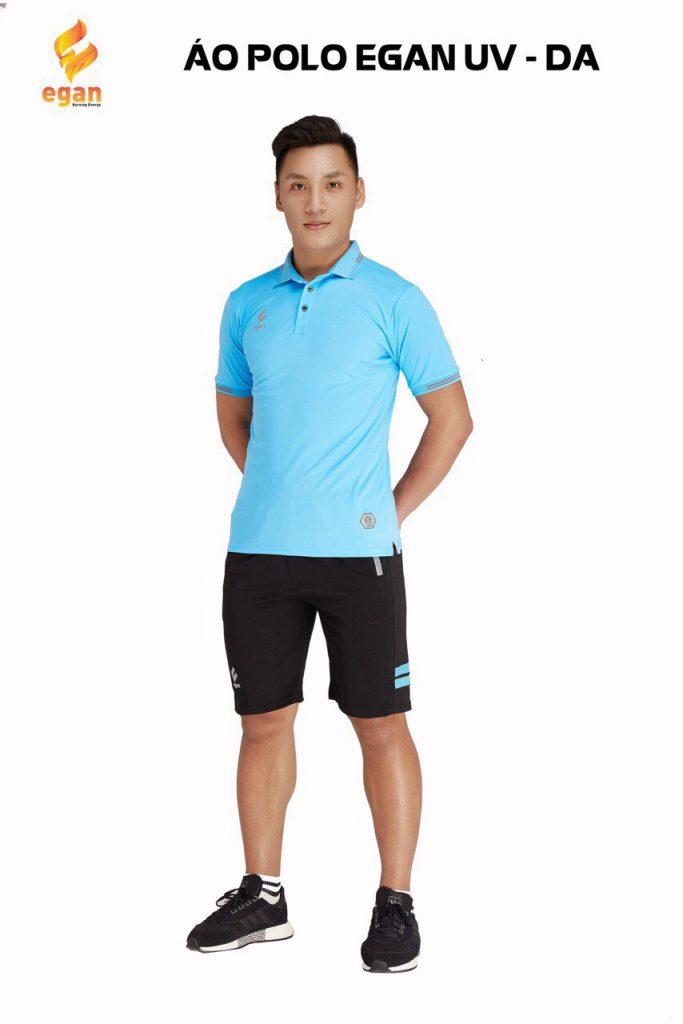 Áo đồng phục Polo Egan UV1 cao cấp màu xanh da trời năm 2020