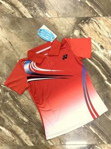Áo cầu lông Yonex màu đỏ trắng năm 2020