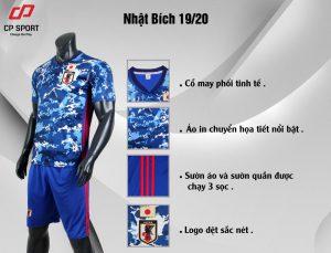 Áo bóng đá CP đội tuyển Nhật Bản màu xanh dương năm 2020