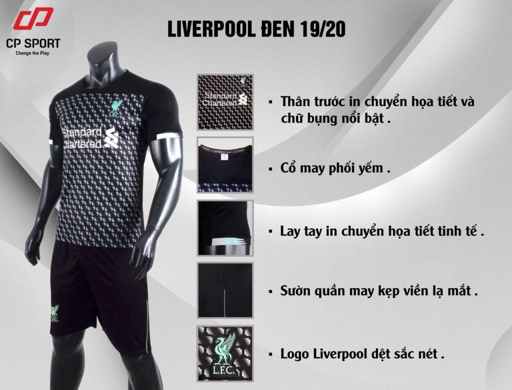 Áo bóng đá CP CLB Liverpool màu đen năm 2020