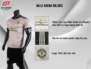Áo bóng đá CP CLB Man United màu hồng nâu năm 2020