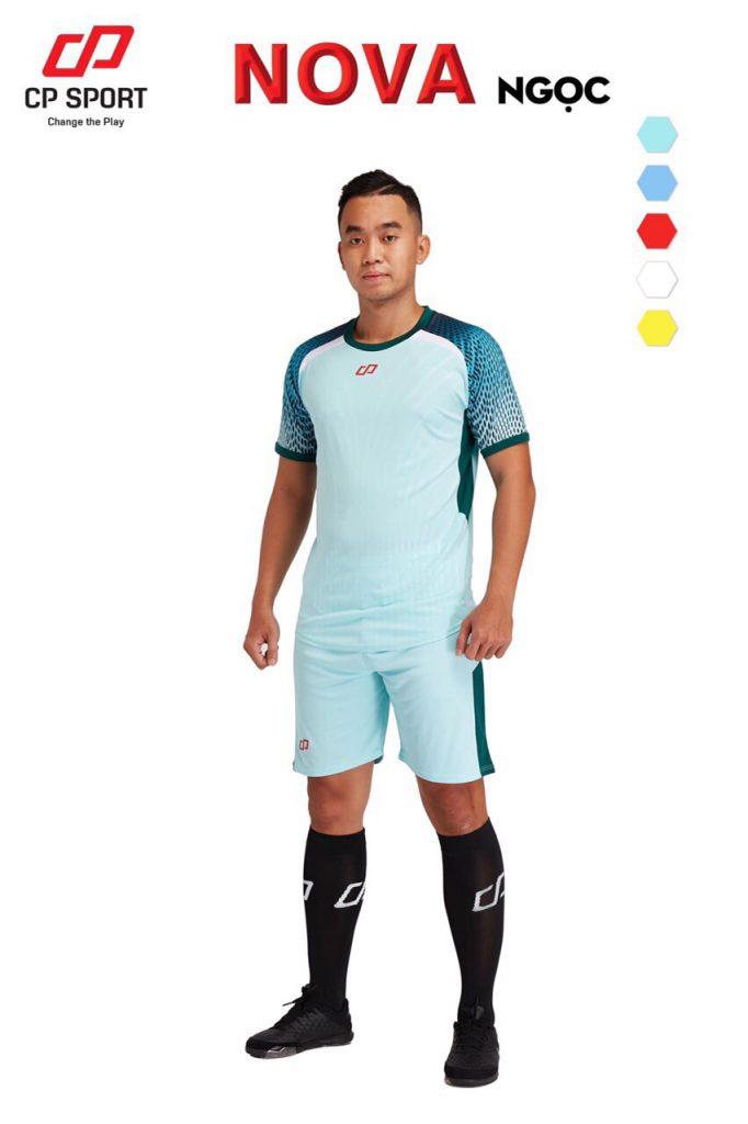 Áo bóng đá CP Nova màu xanh nhạt năm 2020