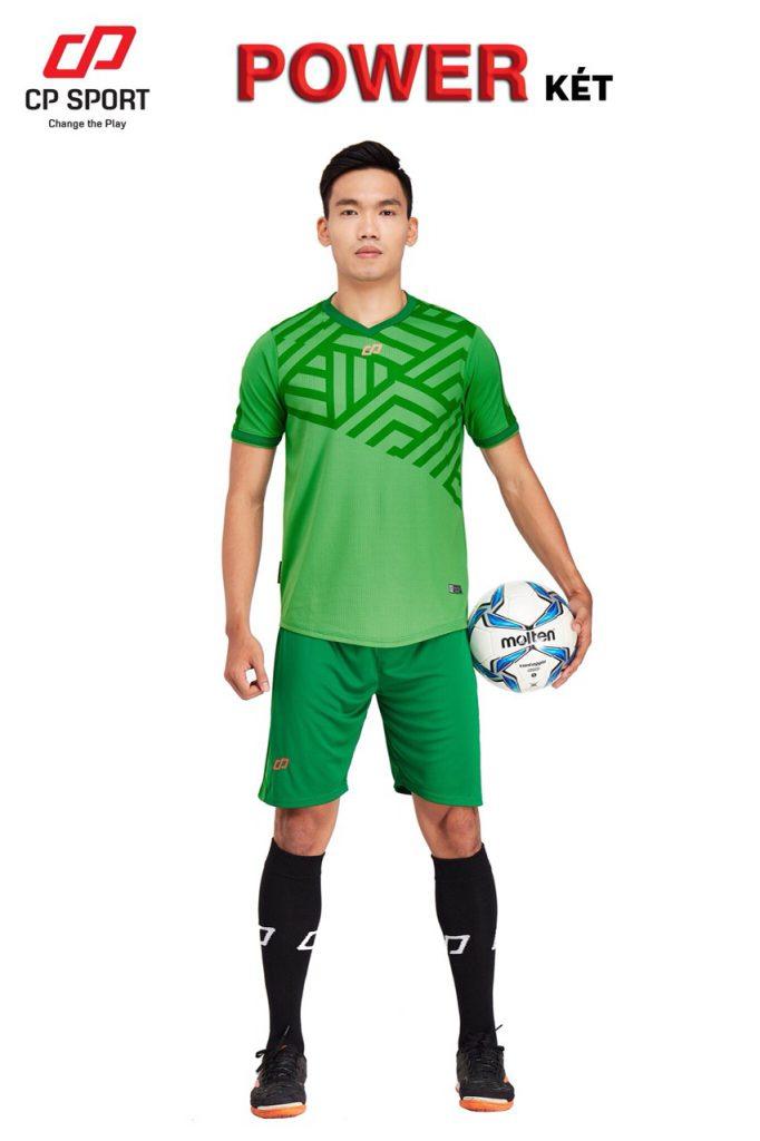 Áo bóng đá CP Power màu xanh lục năm 2020