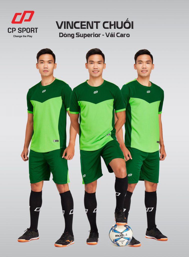 Áo bóng đá CP Vincent màu xanh chuối năm 2020