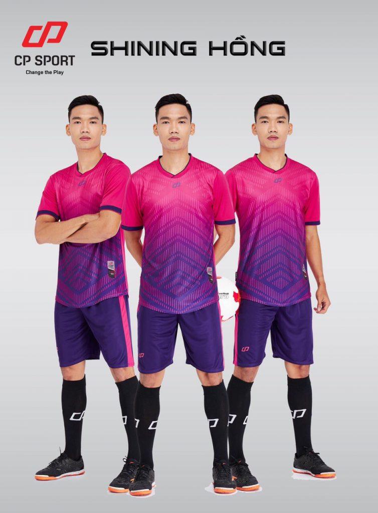 Áo bóng đá CP Shining màu hồng năm 2020