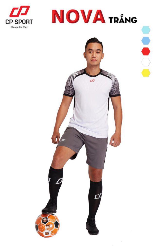 Áo bóng đá CP Nova màu trắng năm 2020
