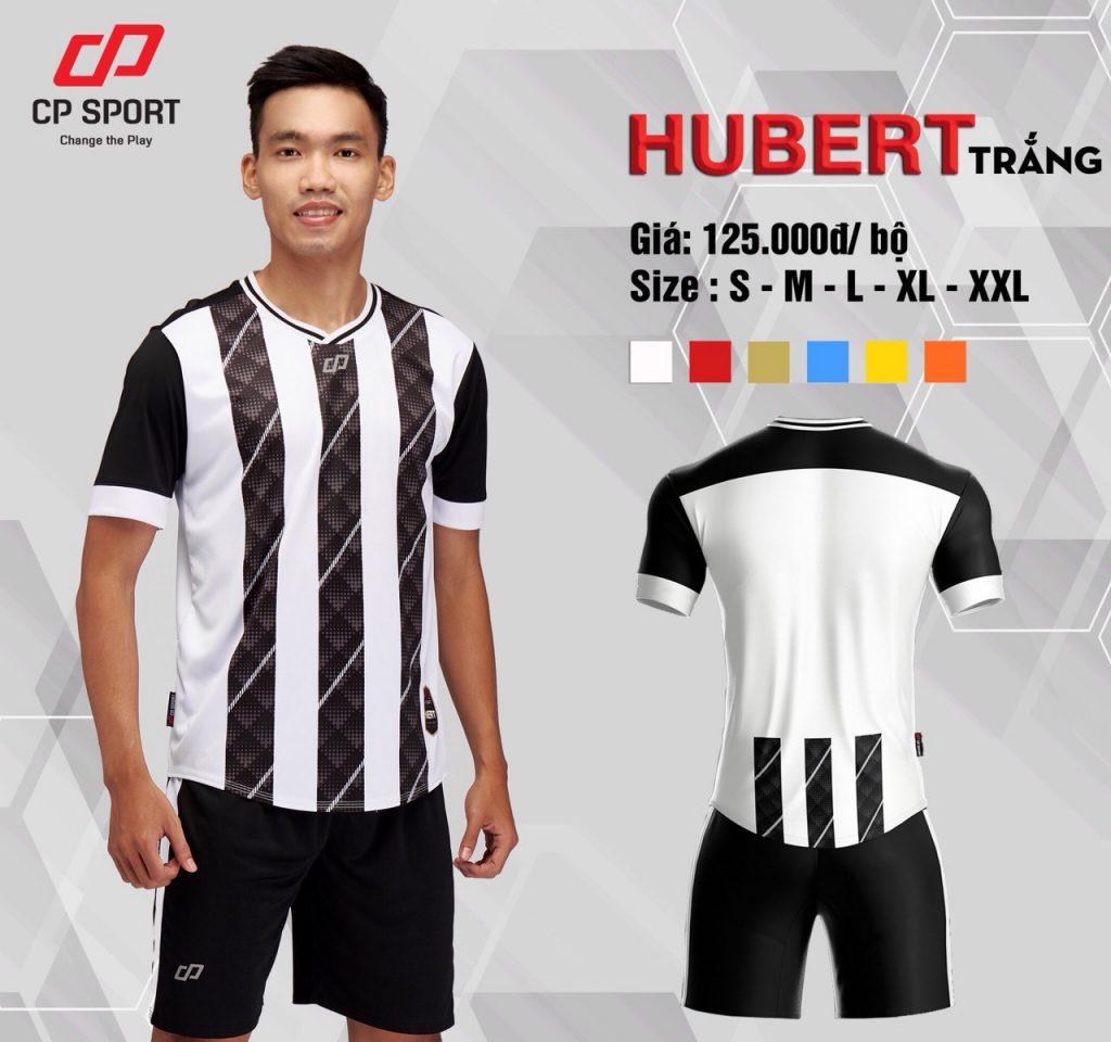 Áo bóng đá CP Hubert màu đen sọc trắng năm 2020
