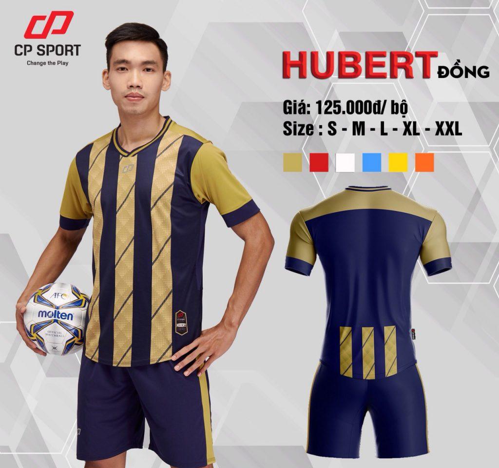 Áo bóng đá CP Hubert màu vàng sọc tím than năm 2020
