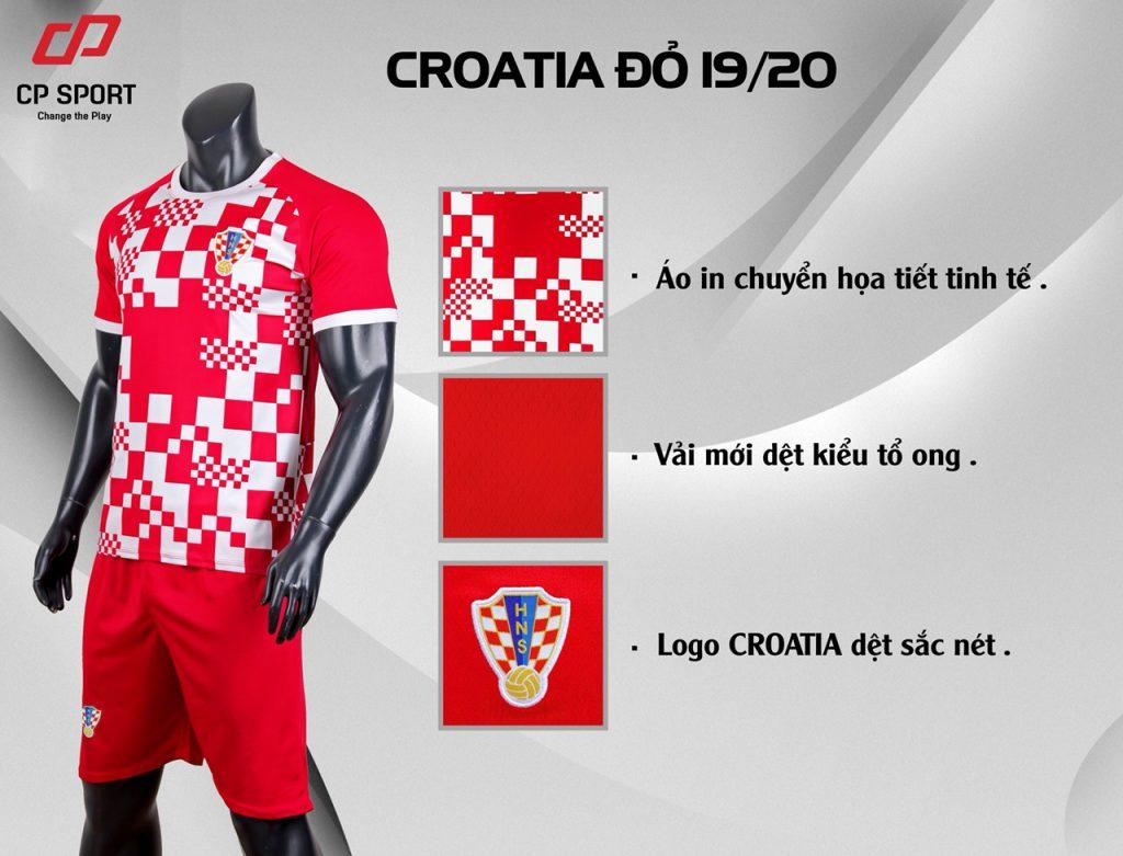 Áo bóng đá CP CLB Croatia màu đỏ năm 2020