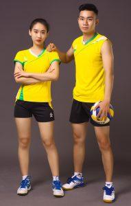 Áo bóng chuyền nam nữ K3 màu vàng năm 2020