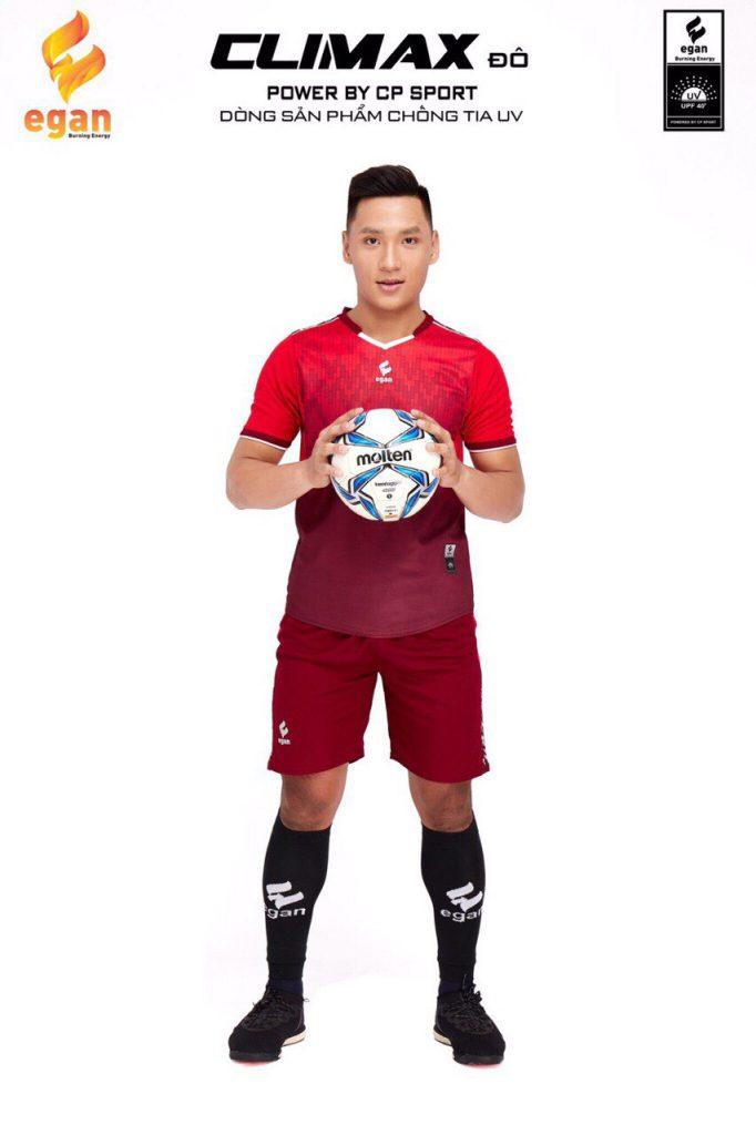 Áo bóng đá Egan Climax màu đỏ năm 2020