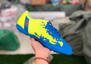 Giày bóng đá trẻ em CR7 màu vàng xanh mới nhất 2020