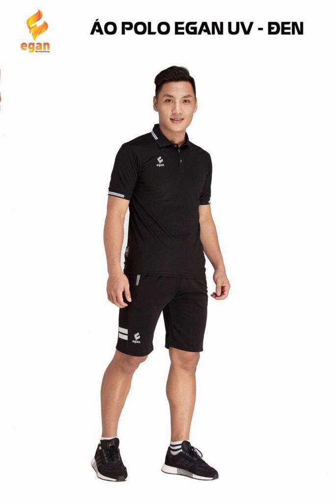 Áo đồng phục Polo Egan UV1 cao cấp màu đen năm 2020