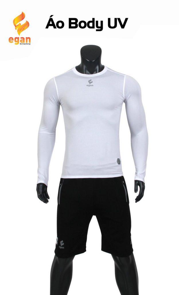 Áo lót body cao cấp Egan chống tia UV màu trắng