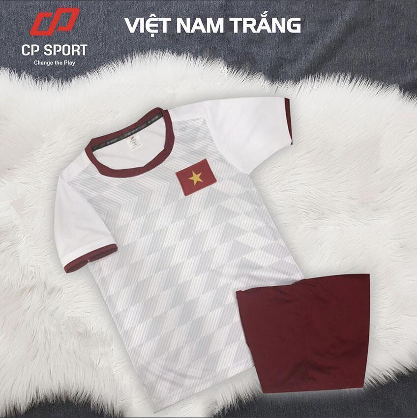 Áo bóng đá trẻ em CP đội tuyển Việt nam màu trắng năm 2020