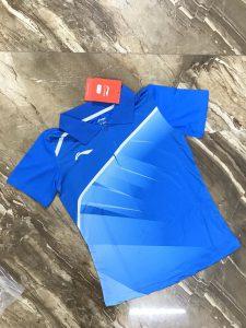 Áo cầu lông nam nữ Lining L1 màu xanh dương năm 2020