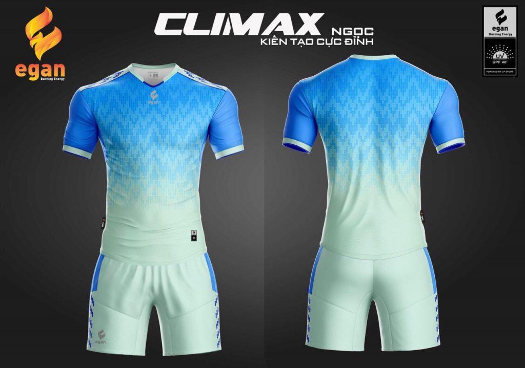 Áo bóng đá Egan Climax màu xanh da trời năm 2020