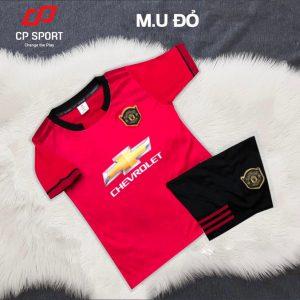 Áo bóng đá trẻ em CP CLB MU màu đỏ năm 2020