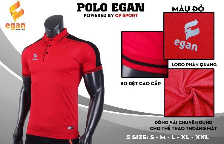 Áo đồng phục Polo Egan cao cấp màu đỏ đô năm 2020
