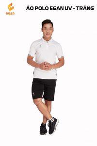 Áo đồng phục Polo Egan UV1 cao cấp màu trắng năm 2020