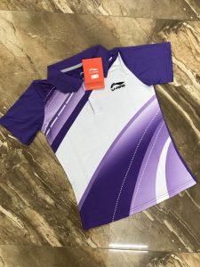 Áo cầu lông nam nữ Lining màu tím năm 2020