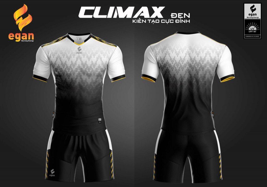 Áo bóng đá Egan Climax màu đen phối trắng năm 2020
