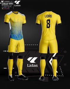 Áo bóng đá không logo Lidas màu vàng năm 2020