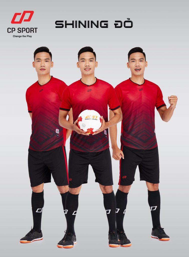 Áo bóng đá CP Shining màu đỏ năm 2020
