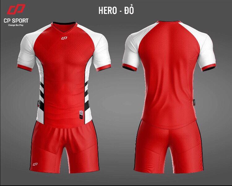 Áo bóng đá CP Hero màu đỏ năm 2020