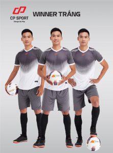 Áo bóng đá CP Winner màu trắng phối tím năm 2020