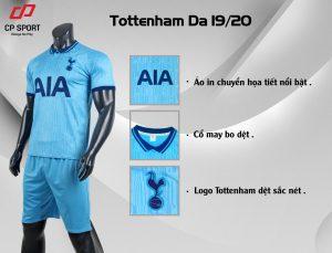Áo bóng đá CP CLB Tottenham màu xanh da trời năm 2020