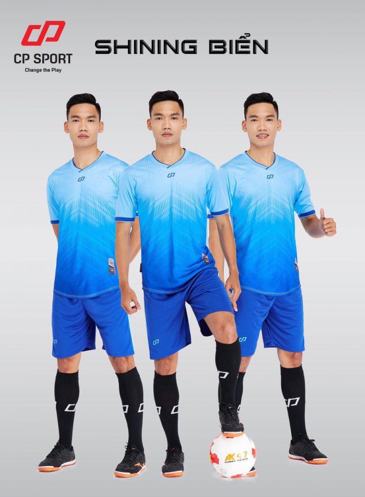 Áo bóng đá CP Shining màu xanh biển năm 2020
