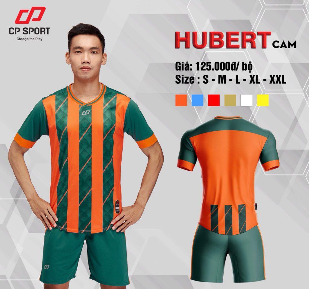Áo bóng đá CP Hubert màu xanh lục sọc cam năm 2020