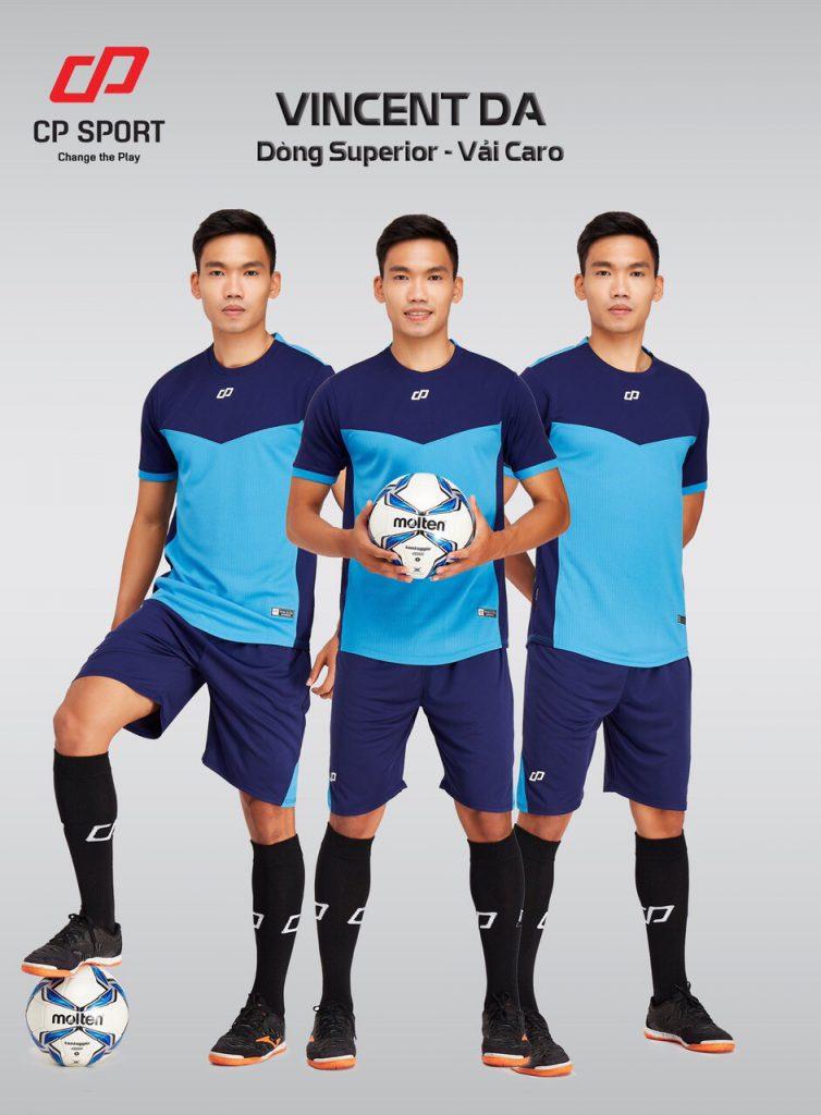 Áo bóng đá CP Vincent màu xanh da trời năm 2020