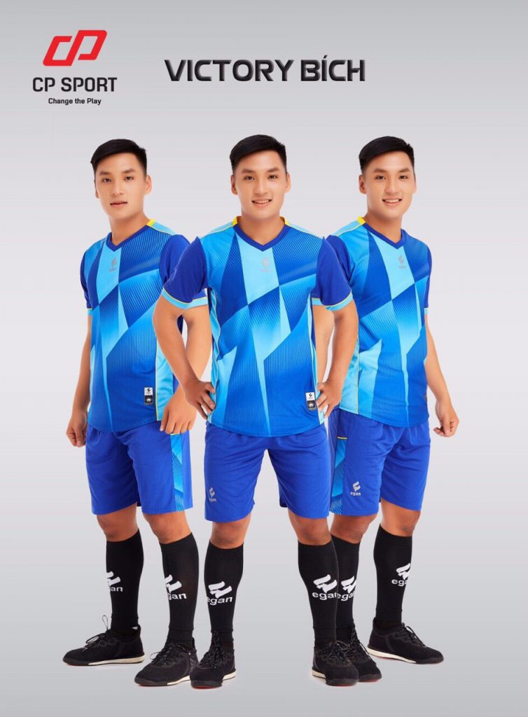 Áo bóng đá CP Victory màu xanh dương năm 2020