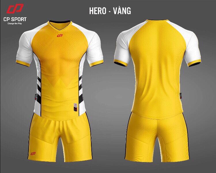 Áo bóng đá CP Hero màu vàng năm 2020