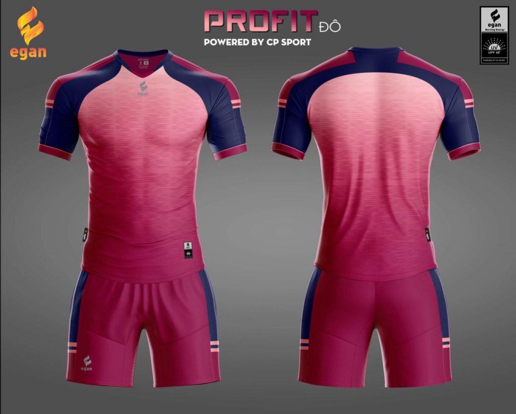 Áo bóng đá Egan Proifit màu đỏ hồng năm 2020