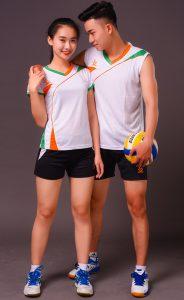 Áo bóng chuyền nam nữ K3 màu trắng năm 2020