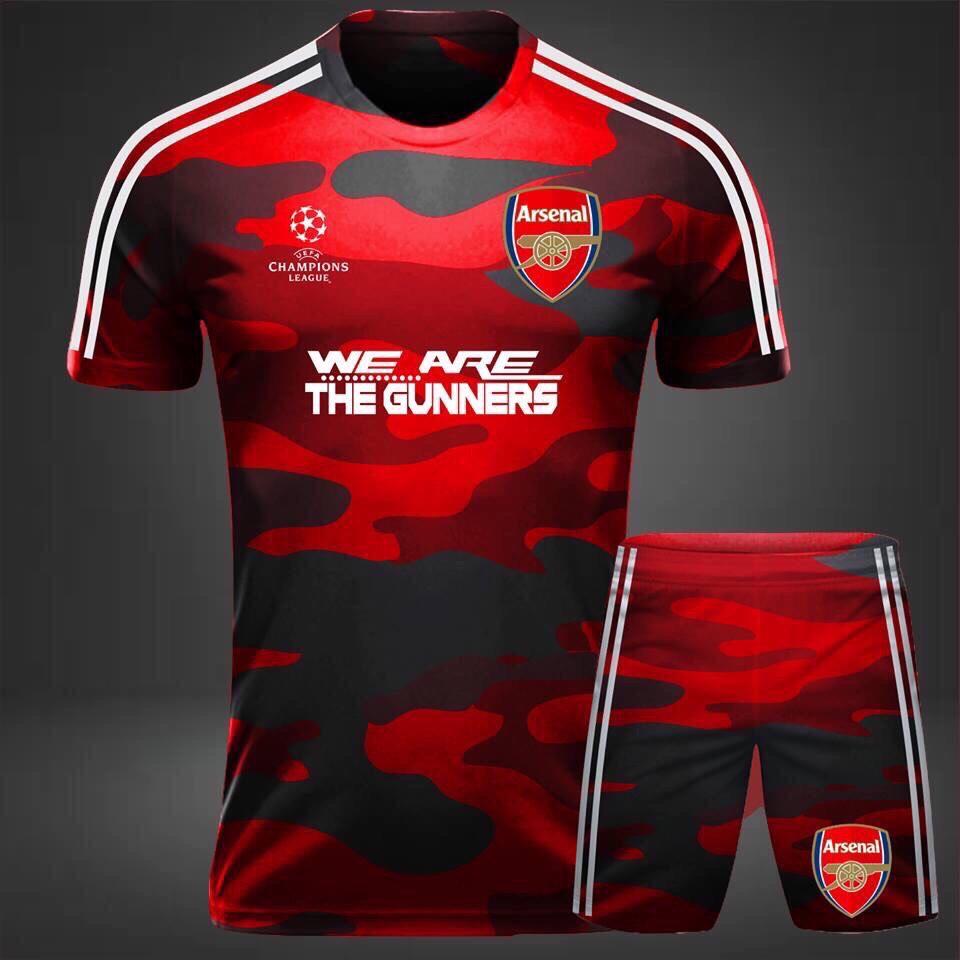 Áo bóng đá CLB Arsenal rằn ri đỏ năm 2020