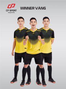 Áo bóng đá CP Winner màu vàng phối đen năm 2020