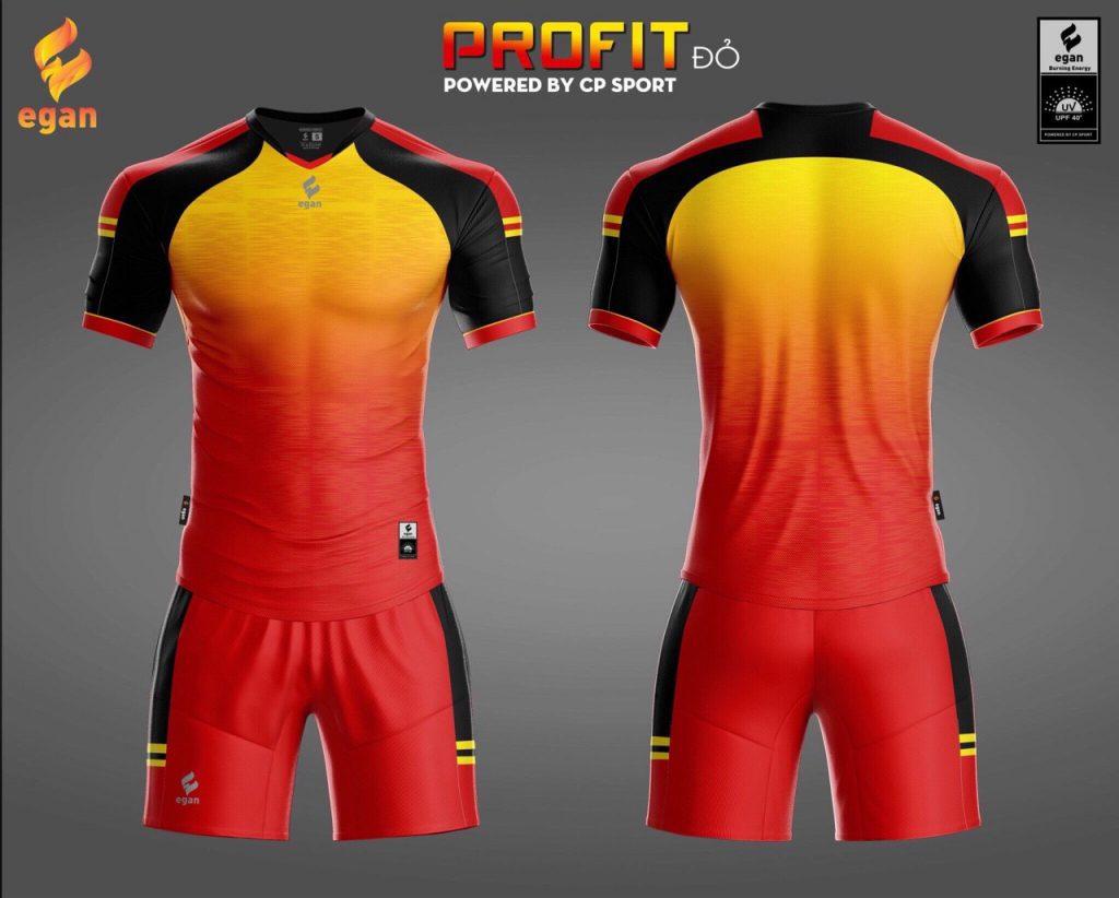 Áo bóng đá Egan Proifit màu đỏ phối đen năm 2020