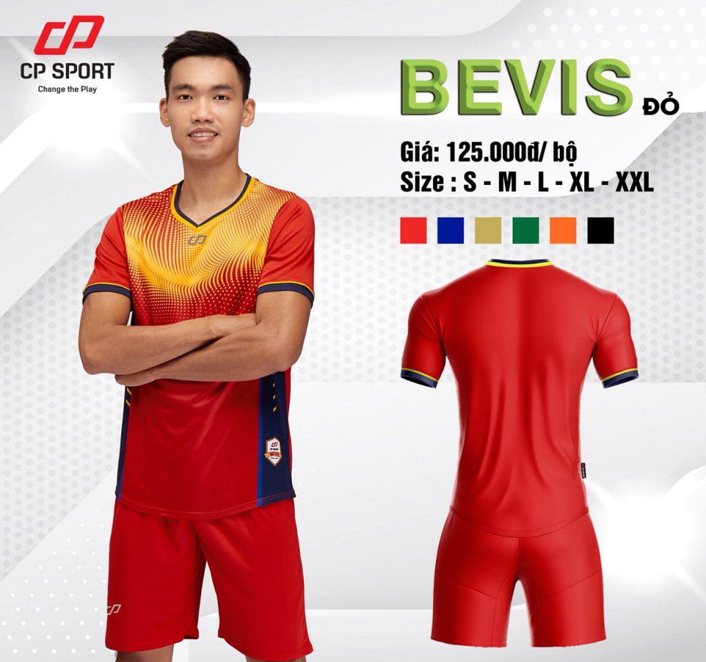 Áo bóng đá CP Bevis màu đỏ năm 2020