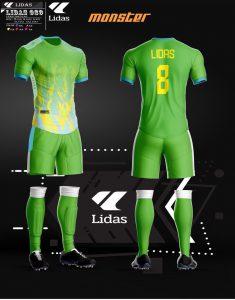 Áo bóng đá không logo Lidas màu xanh lá năm 2020