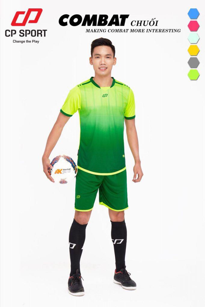 Áo bóng đá CP Combat màu xanh chuối năm 2020