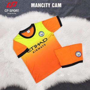 Áo bóng đá trẻ em CP CLB Mancity màu cam năm 2020