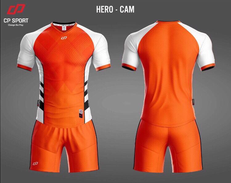 Áo bóng đá CP Hero màu da cam năm 2020