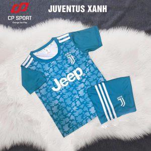 Áo bóng đá trẻ em CP CLB Juventus màu xanh ngọc năm 2020