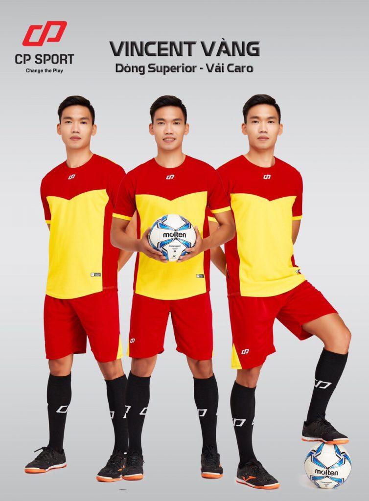 Áo bóng đá CP Vincent màu vàng năm 2020